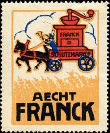 Postkutsche mit Kaffeemühle Aecht Franck