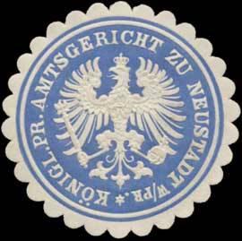 Pr. Amtsgericht zu Neustadt Westpreußen