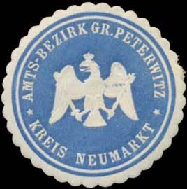 Amtsbezirk Groß Peterwitz Kreis Neumarkt