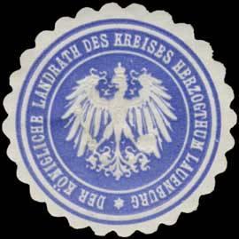 Der Königliche Landrath des Kreises Herzogthum Lauenburg
