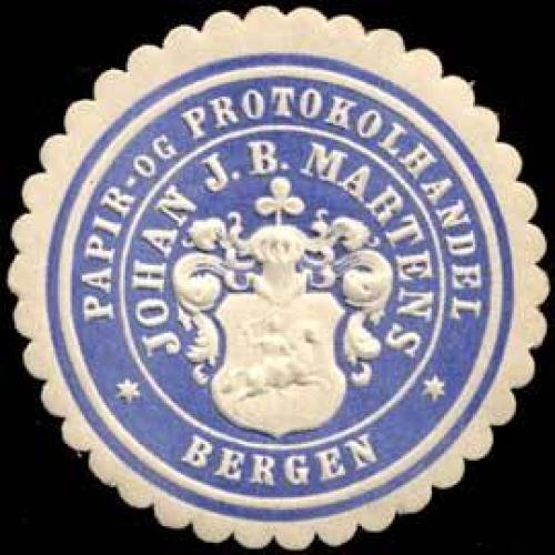 Papir-og Protokolhandel Johan J.B. Martens-Bergen