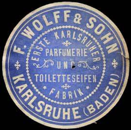 Erste Karlsruher Parfümerie und Toiletteseifen Fabrik F. Wolff & Sohn