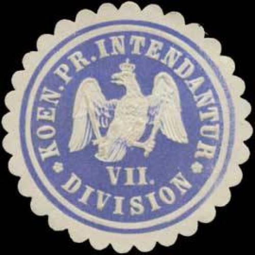 Koen. Pr. Intendantur VII Division