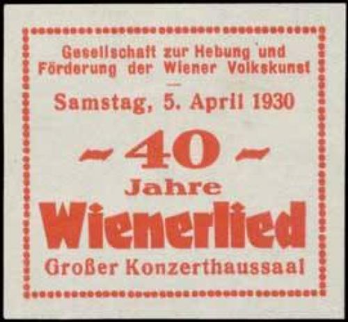 40 Jahre Wienerlied