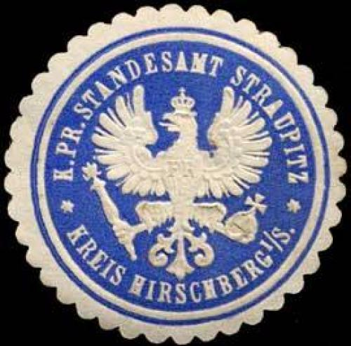 K.Pr. Standesamt Straupitz-Kreis Hirschberg in Schlesien