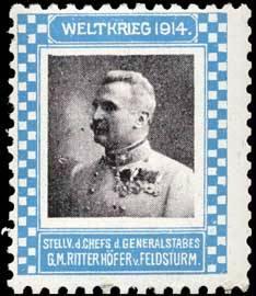 Stellv. des Chefs des Generalstabes Generalmajor Ritter Höfer von Feldsturm