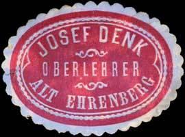 Oberlehrer Josef Denk - Alt Ehrenberg