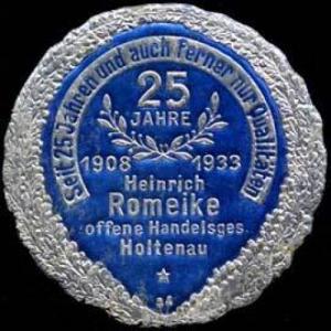 25 Jahre Heinrich Romeike OHG Holtenau