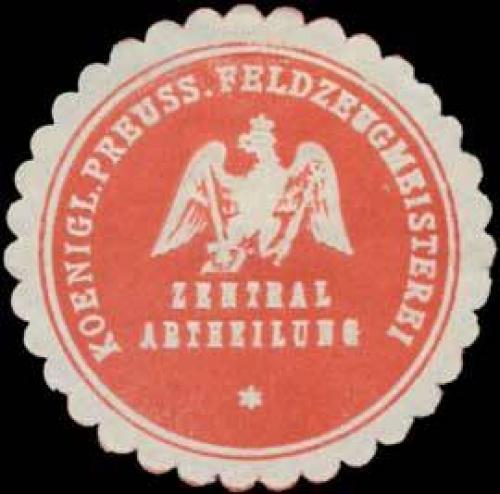 K.Pr. Feldzeugmeisterei Zentral Abtheilung
