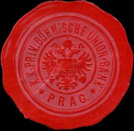 K.K. Priv. Böhmische Union-Bank - Prag