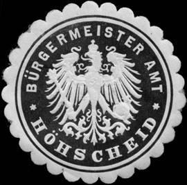 Bürgermeister Amt Höhscheid