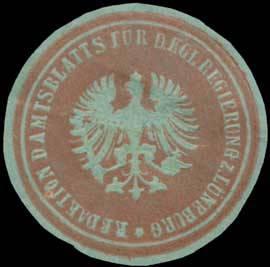 Redaktion des Amtsblatts für die Kgl. Regierung zu Lüneburg
