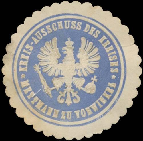 Kreis-Ausschuss des Kreises Mettmann zu Vohwinkel