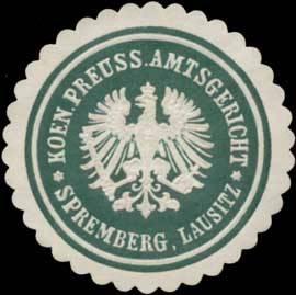 K.Pr. Amtsgericht Spremberg, Lausitz