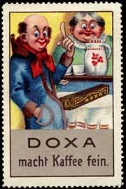 Doxa macht Kaffee fein.