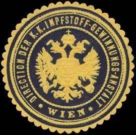 Direction der K.K. Impfstoff-Gewinnungs-Anstalt Wien