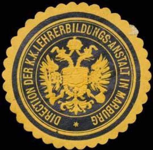 Direction der K.K. Lehrerbildungs-Anstalt in Marburg