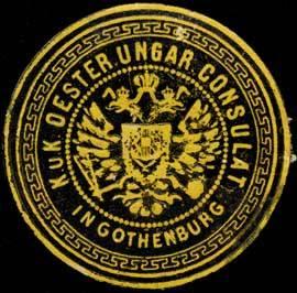 K.u.K. Oesterreich Ungarische Consulat in Gothenburg/Göteborg