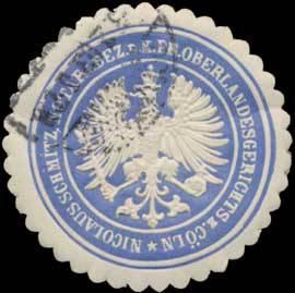 Nicolaus Schmitz, Notar für den Bezirk des K.Pr. Oberlandesgerichts zu Cöln
