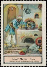 Der Oberküchenmeister zieht den Buckeligen aus dem Schornstein