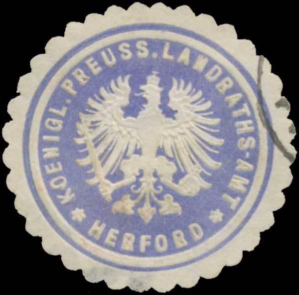 K.Pr. Landraths-Amt Herford
