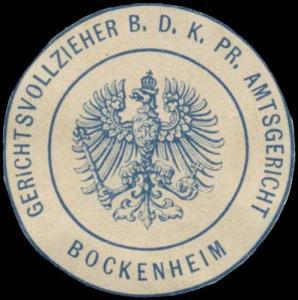 Gerichtsvollzieher b.d. K.Pr. Amtsgericht Bockenheim