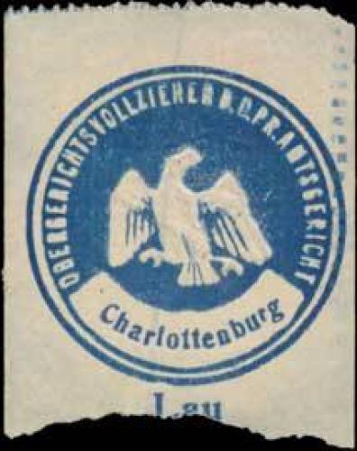 Lay Obergerichtsvollzieher bei dem K.Pr. Amtsgericht Charlottenburg
