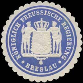 K.Pr. Regierung zu Breslau