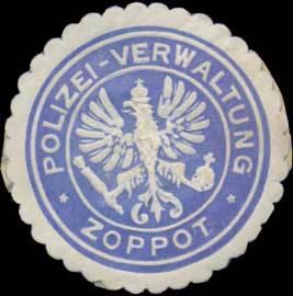 Polizei-Verwaltung Zoppot/Pommern