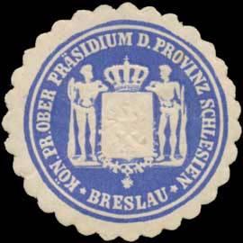 K.Pr. Ober Präsidium der Provinz Schlesien Breslau