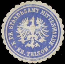 K.Pr. Standesamt Mittenwalde Kr. Teltow