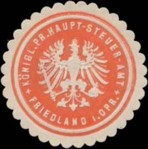 K.Pr. Haupt-Steuer-Amt Friedland i. Opr.