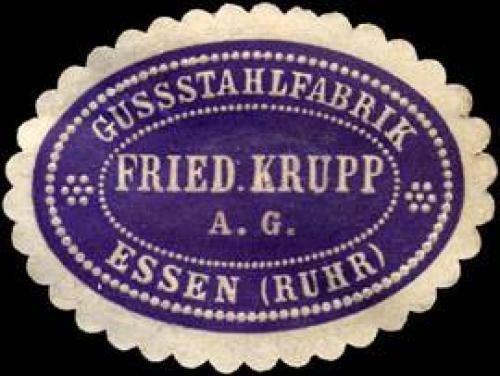 Gussstahlfabrik Friedrich Krupp AG - Essen (Ruhr)