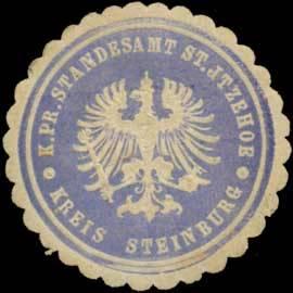 K.Pr. Standesamt St. Itzehoe Kreis Steinburg