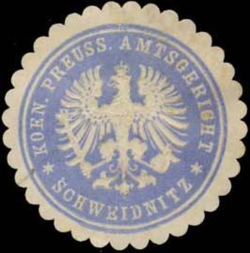 K. Pr. Amtsgericht Schweidnitz