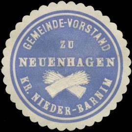 Gemeinde-Vorstand zu Neuenhagen Kreis Nieder-Barnim