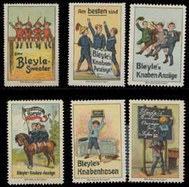 Kinder Kleidung Bleyle Sammlung Reklamemarken