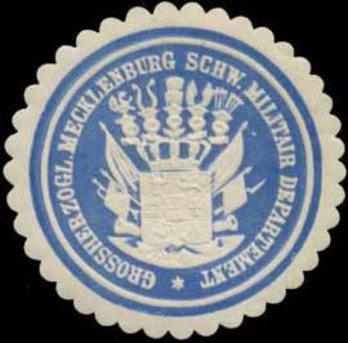 Gr. Mecklenburg Schw. Militair Departement
