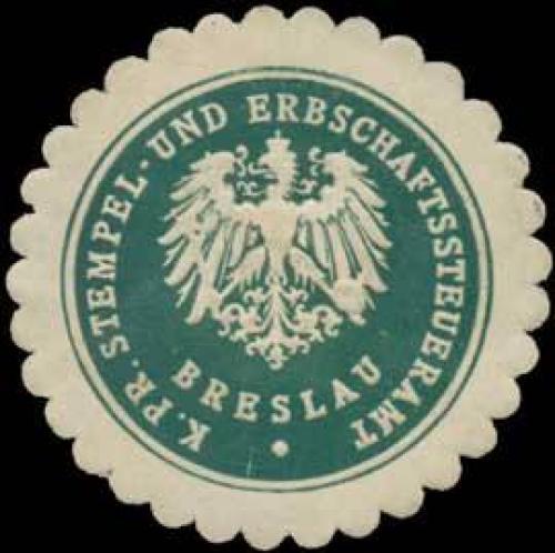 K.Pr. Stempel- und Erbschaftssteueramt Breslau