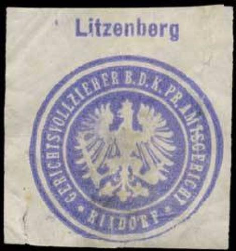 Litzenberg Gerichtsvollzieher b.d. K.Pr. Amtsgericht Rixdorf