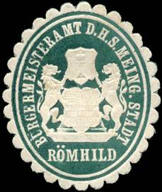 Bürgermeisteramt der H. S. Meing. Stadt Römhild