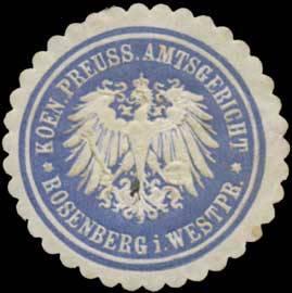 K.Pr. Amtsgericht Rosenberg in Westpreußen