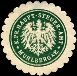 Königlich Preussische Haupt - Steuer - Amt - Mühlberg an der Elbe