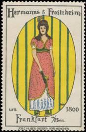 Damen-Mode um 1800