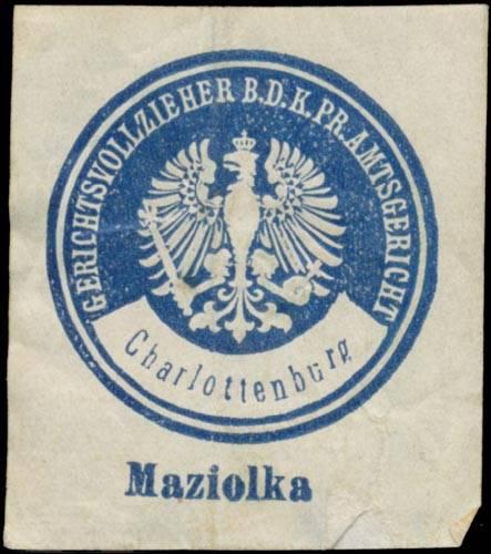 Maziolka Gerichtsvollzieher b.d. K.Pr. Amtsgericht Charlottenburg