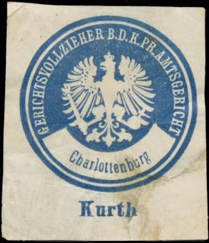 Kurth Gerichtsvollzieher b.d. K.Pr. Amtsgericht Charlottenburg