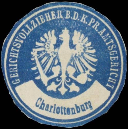 Gerichtsvollzieher b.d. K. Pr. Amtsgericht Charlottenburg