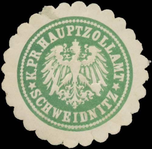 K.Pr. Hauptzollamt Schweidnitz/Schlesien