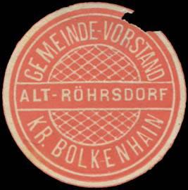 Gemeinde-Vorstand Alt- Röhrsdorf Kreis Bolkenhain/Schlesien