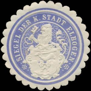 Siegel der K. Stadt Elbogen (Loket)